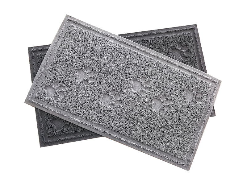 Customizable wholesale plastic flooring cooling mat small cat litter waterproof cat pet products cat litter trapper mat