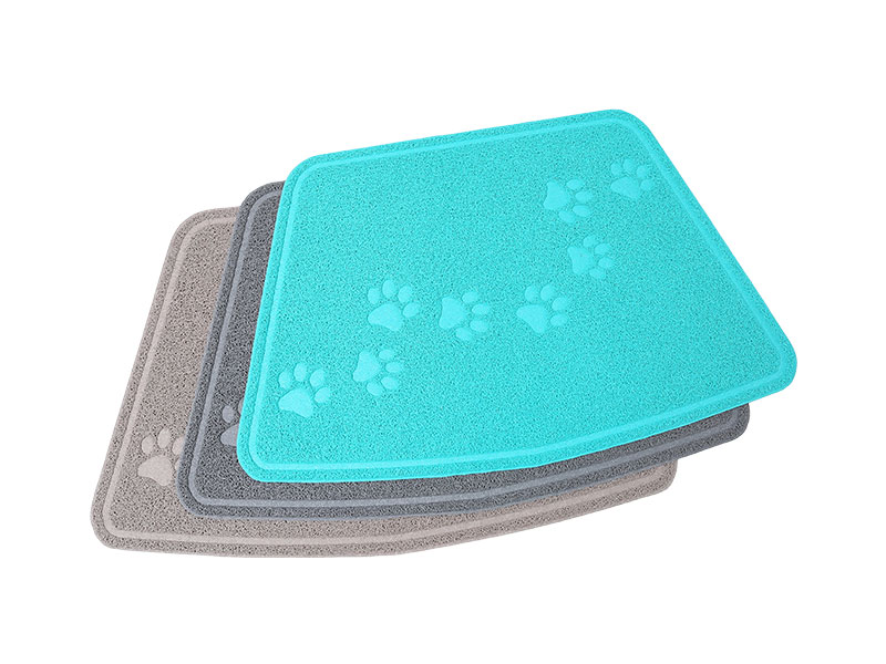 60*90cm Direct deal Customizable Various shapes outdoor floor mat rubber plastic anti slip waterproof cute Paw pattern mat