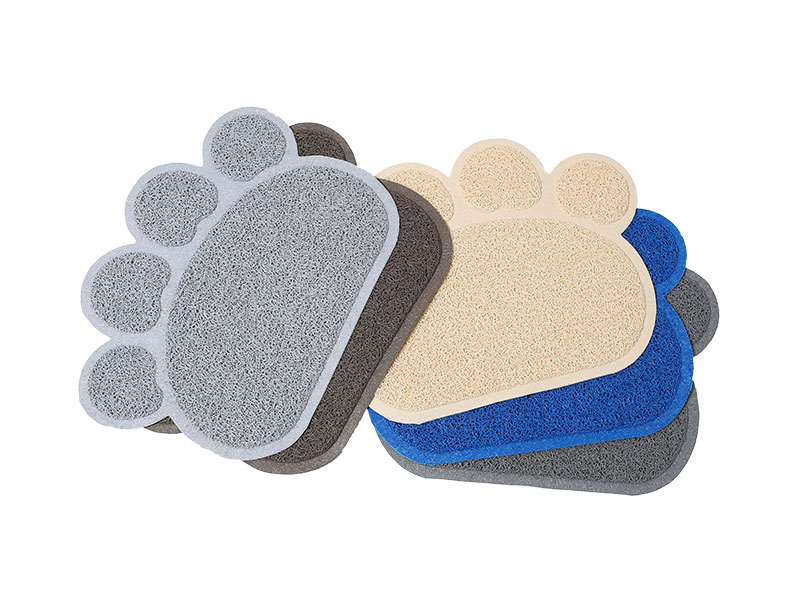 Anti slip waterproof outdoor door floor mat cute Animal claw shape pvc Rubbeer plastic mat non-slip pet mat