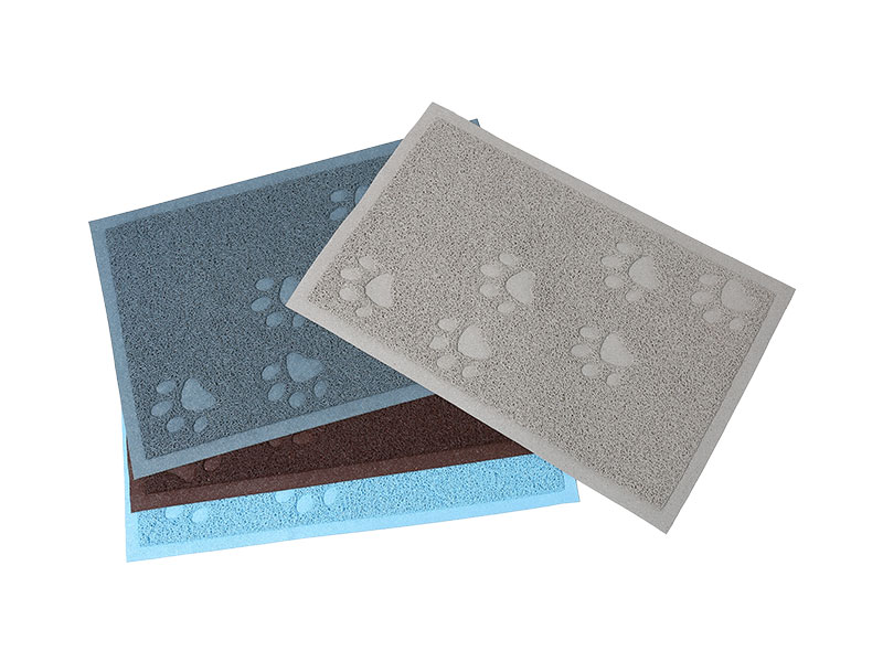 Anti slip pet rubber mat outdoor pet clean large cooling mat plastic matting for dog cage waterproof
