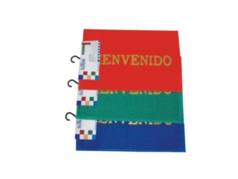pvc printed vinyl prayer mat roll floor mat for spain BIENVENIDO