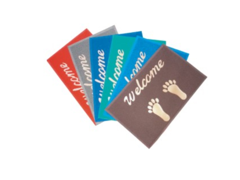 OEM Printed Logo Anti-Slip Entrance Pvc softextile floor mat