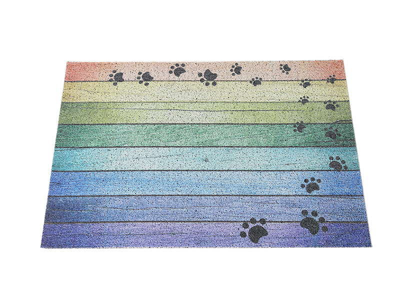 Customize Finished Carpet rubber PVC coil doormat Big size floor mat Printing pattern Door Mat