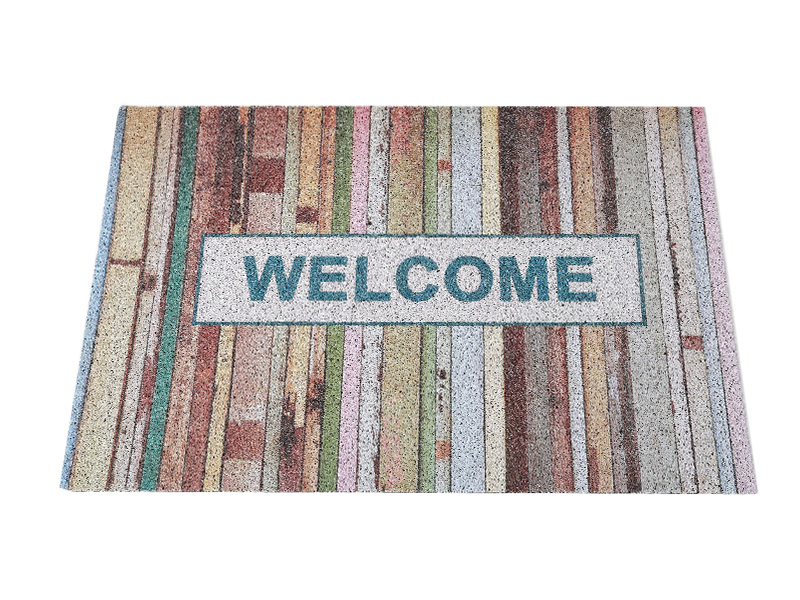 Finished Carpet customization UV Printing floor mat pvc coil Printing Flower pattern Door Mat